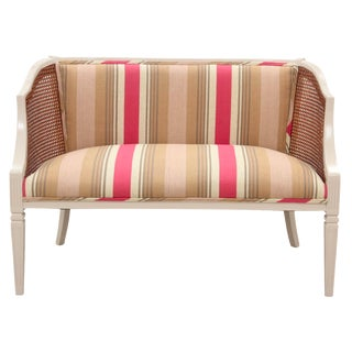 Neoclassical Style Caned Settee