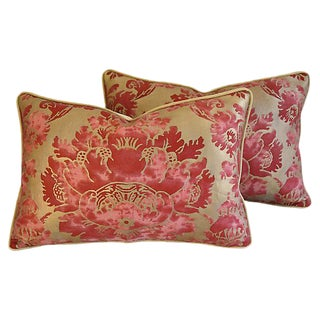 Custom Designer Italian Fortuny Vivaldi Feather/Down Pillows - Pair
