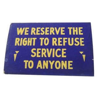 """40s """"Service"""" Shop Sign"""