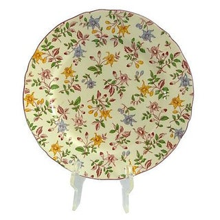 Vintage Japanese Chintz Floral Serving Plate
