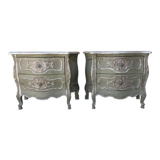 French Painted & Parcel Gilt Bombay Chests - A Pair