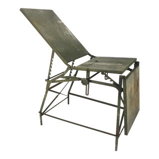 Vintage Industrial Military Army Field Operating Surgical Exam Table