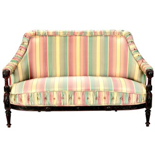 Mid 19th-C. Spanish Sofa with Turned Frame