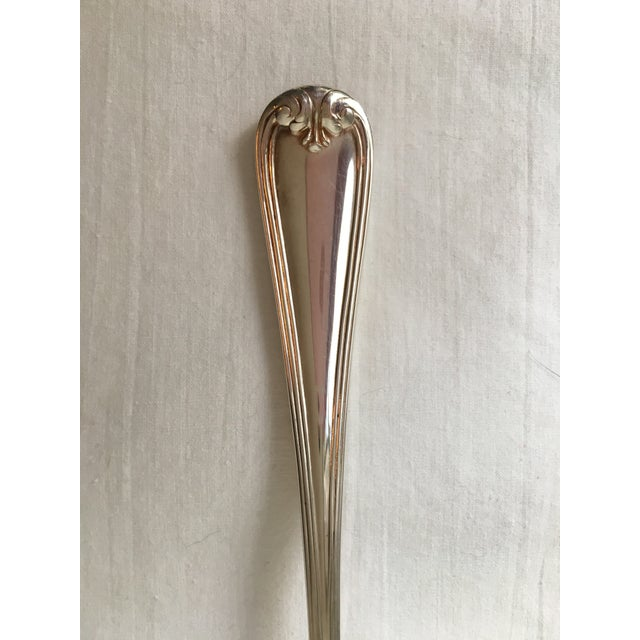 Image of Vintage Gorham Silver Shell Serving Spoon