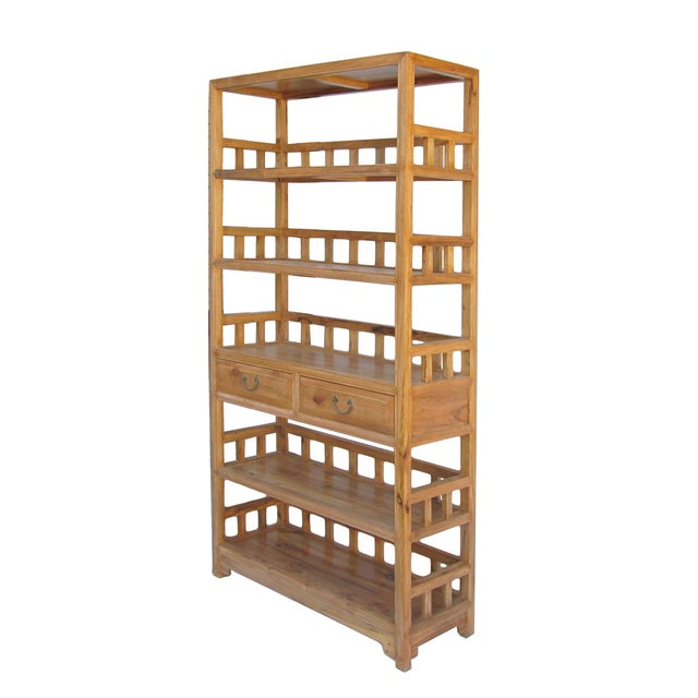 Chinese Camphor Wood Simple Display Curio Bookcase - Image 3 of 5