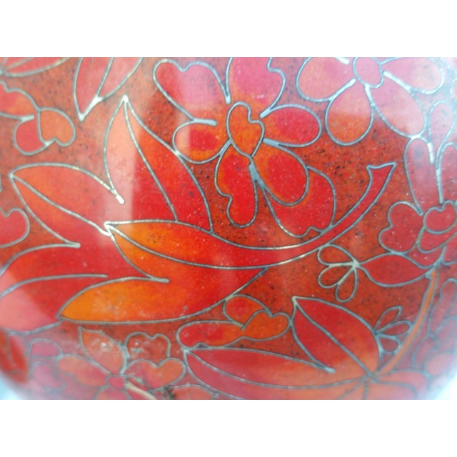 Vintage Cloisonne Vase - Pair - Image 4 of 5