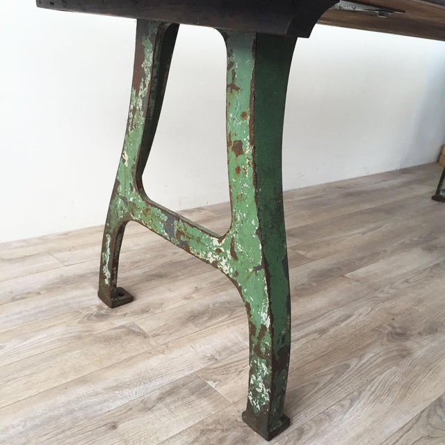 Image of Cast Iron Base Reclaimed Wood Dining Table