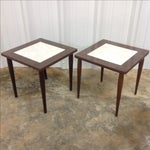 Image of Mid Century Side Tables With Formica Tops - 2