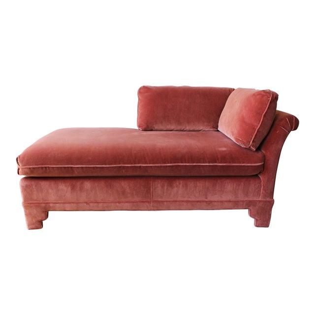 American of Martinsville Velvet Chaise Lounge - Image 1 of 11