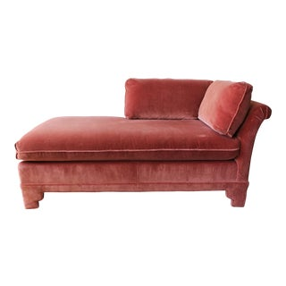American of Martinsville Velvet Chaise Lounge