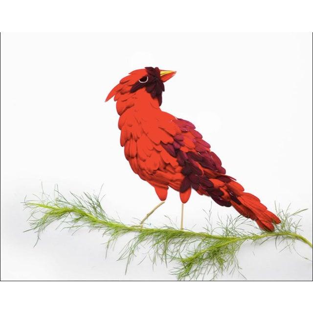 """Red Hongyi """"Cardinal"""" Print - Image 3 of 3"""