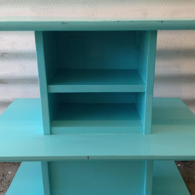 Mid-Century High Gloss Chalk Painted Cart - Image 7 of 11