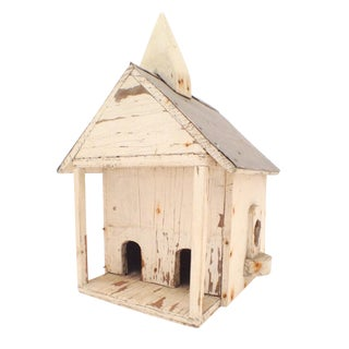 Vintage Rustic Wooden Church Birdhouse
