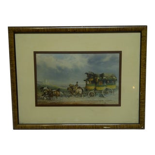 """Stage Coach"" Framed & Matted Original Print"
