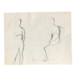 Original Two Nudes Sketch