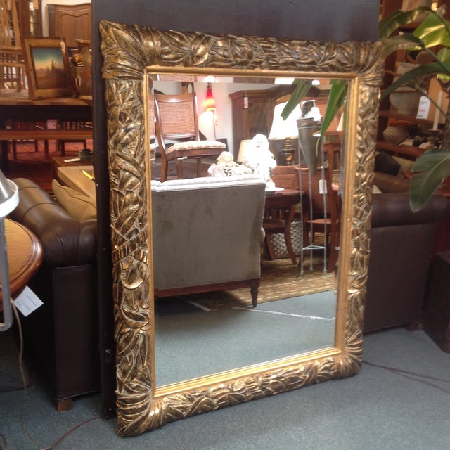 Gilded and Beveled Wall Mirror - Image 7 of 7