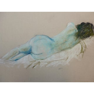 Woman Sleeping, Pastel and Charcoal Drawing