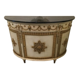 Widdicomb 18th Century English Demi-Lune Commode