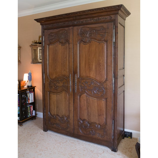 French Oak Armoire from Normandy - Image 3 of 10