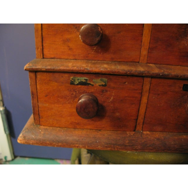 Early Original Graduated Apothecary Drawers - Image 9 of 11