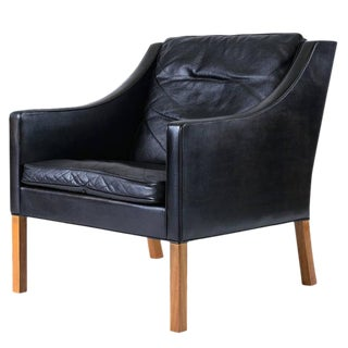 Borge Mogensen Model #2207 Leather Lounge Chair