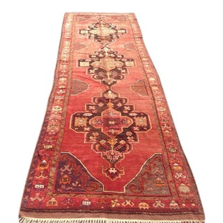 "1940s Vintage Hand Knotted Anatolian Rug - 4'2"" x 13'5"""