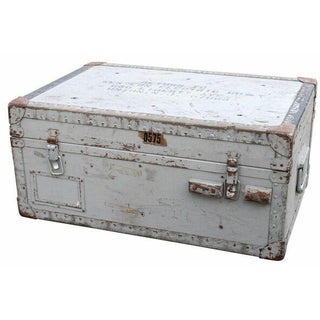 Gray Military Trunk