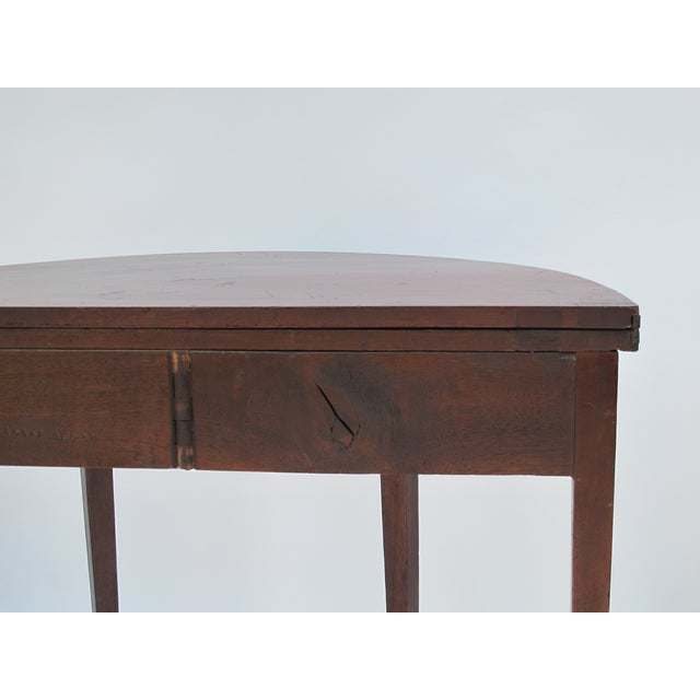 Sheraton-Style Demilune Rosewood Game Table - Image 10 of 11
