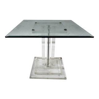 Lucite & Glass Side Table
