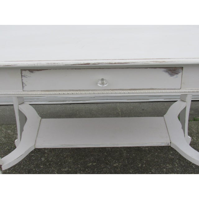 Vintage French Shabby Chic Style Desk - Image 2 of 7