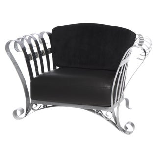 Eiffel Parisian Stainless Steel Arm Chair