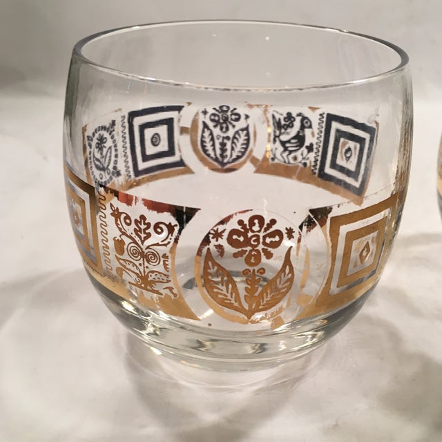 Vintage Culver Roly Poly Glasses - Set of 5 - Image 8 of 9