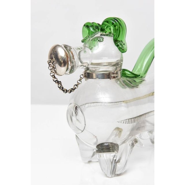 Dual Tone Glass Dog Decanter - Image 7 of 9