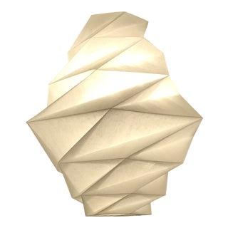White Pendant Fukurou Lamp by Issey Miyake
