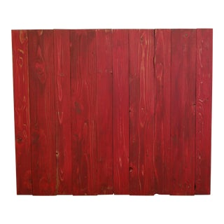 Twin Hanger Red Distressed Barn Walls Headboard