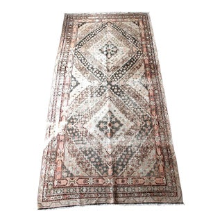 Antique Shara Double Medallion Turkish Rug - 5′6″ × 10′8″
