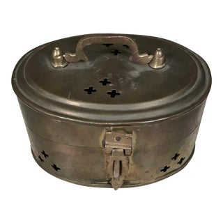 Solid Brass Cricket Trinket Box