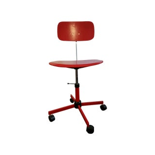 Jørgen Rasmussen Kevi Red Swivel Chair