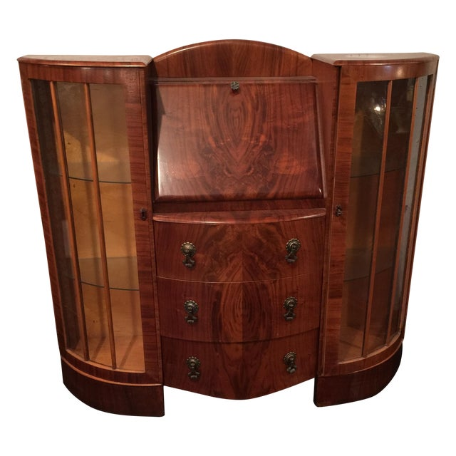 art deco desk vitrine chairish. Black Bedroom Furniture Sets. Home Design Ideas