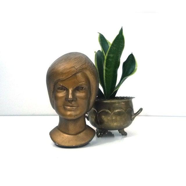 1963 Jacqeline Kennedy Chalkware Bust Bronze - Image 4 of 6