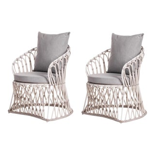 David Francis Outdoor Lounge Chairs - A Pair