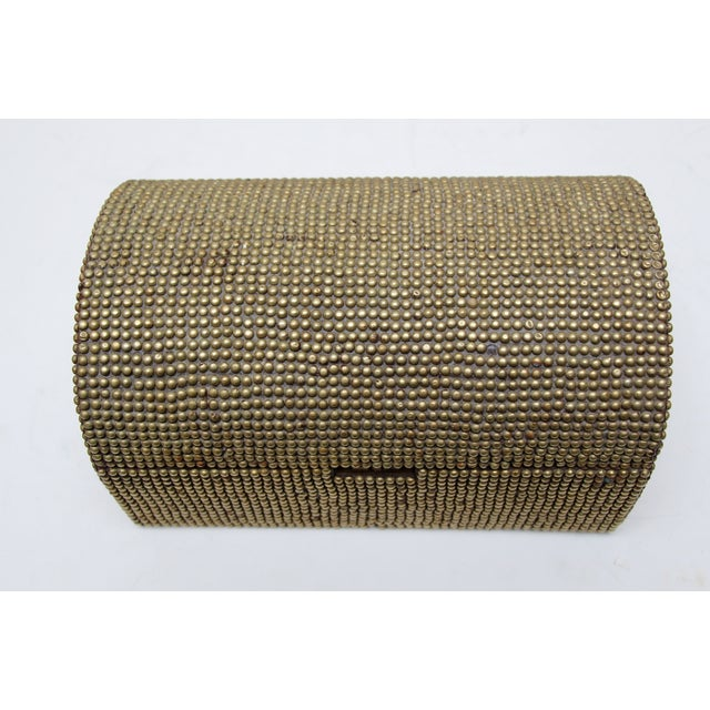 Brass Studded Tabletop Trunk - Image 4 of 9