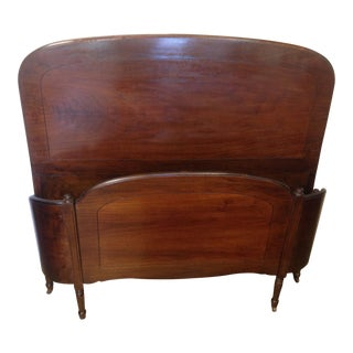 Art Deco Mahogany Full Size Bed