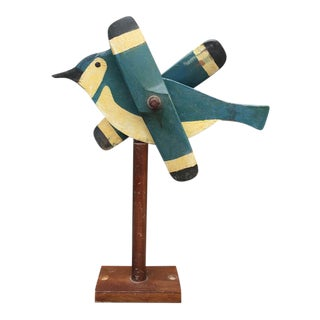 Wooden Blue Jay Whirligig