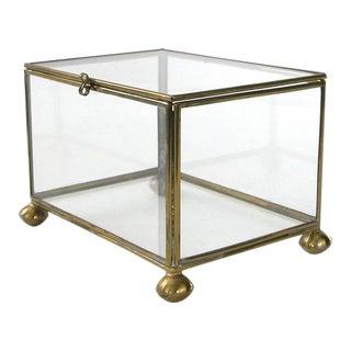 Brass & Glass Display Box