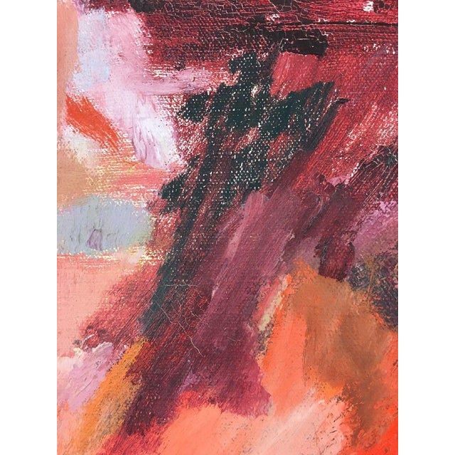 BT Wohl Mid-Century Abstract Oil Painting 1966 - Image 8 of 11