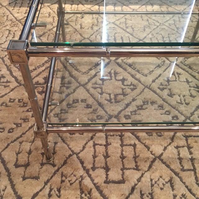 Image of Jonathan Adler Chrome Coffee Table - Pair