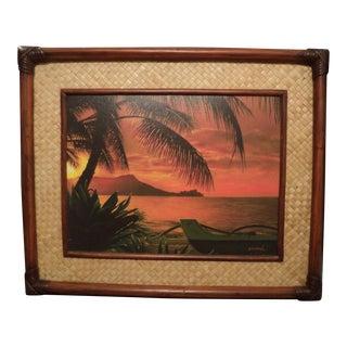 Original Hawaiian Lahaina Print Picture