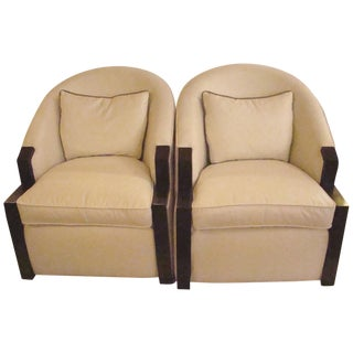 Thayer Coggin Club Chairs - Pair
