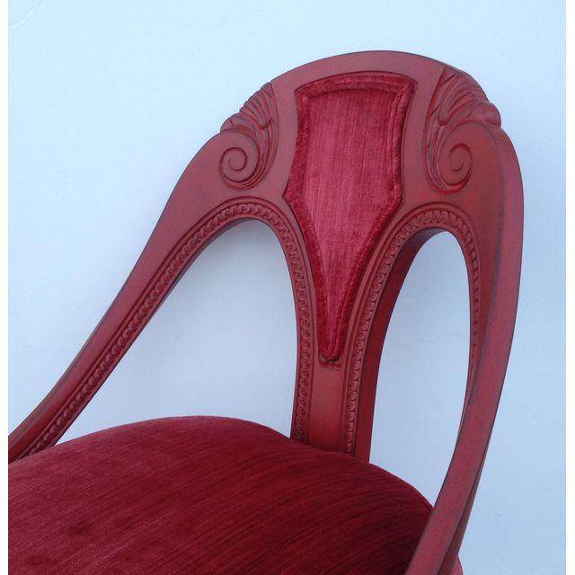 Hollywood Regency Spoon Back Chairs - A Pair - Image 6 of 10